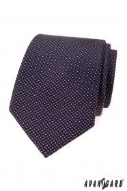 Pánská kravata s fialovými čtverečky