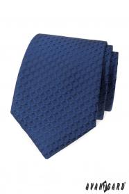 Modrá kravata s 3D vzorem