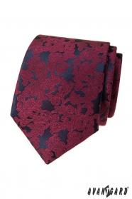 Pánská kravata s vínovým vzorem