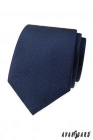 Tmavě modrá kravata se strukturovaným povrchem