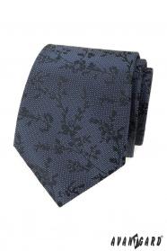 Modrá strukturovaná kravata se vzorem