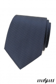 Modrá puntíkovaná kravata