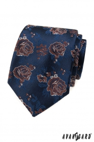 Modrá kravata, červené růže