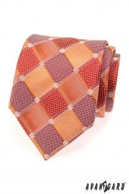 Pánská kravata velké červené kostky