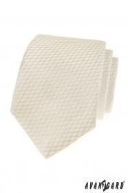Krémová kravata s pruhovanou strukturou