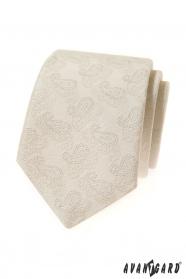Smetanová kravata s Paisley vzorem