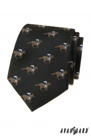 Černá kravata dostihový kůň