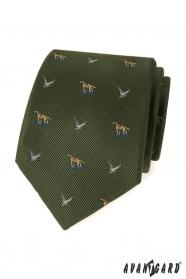 Zelená myslivecká kravata