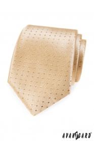 Zlatá kravata s puntíky