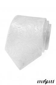 Bílá pánská kravata se vzorem