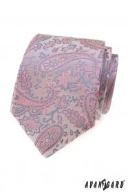 Pudrovo-šedá kravata Paisley
