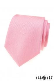 Růžová strukturovaná pánská kravata
