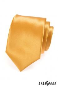 Pánská kravata LUX - zlatá