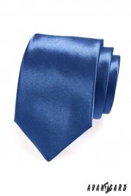 Lesklá kravata královská modř