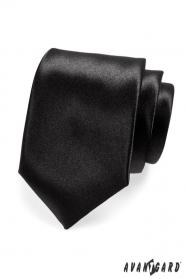 Klasická pánská kravata černá lesk