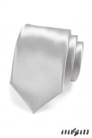 Pánská kravata stříbrná