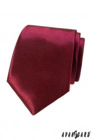 Jednobarevná pánská kravata v bordó