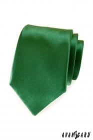 Zelená jednobarevná kravata Avantgard