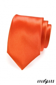 Oranžová jednobarevná kravata