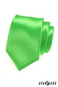 Pánská kravata zelená lesklá