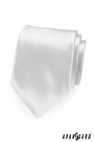 Bílá pánská kravata saténový lesk