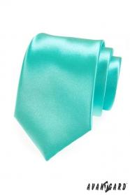 Pánská kravata mátová lesk
