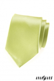 Pánská kravata limetková s leskem