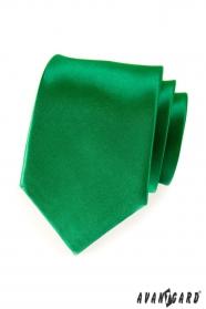 Smaragdová kravata tmavě zelená