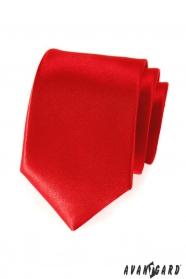 Hladká červená kravata pro pány