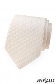 Jemně vzorovaná kravata v odstínu Ivory