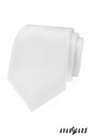 Bílá slavnostní kravata strukturovaná