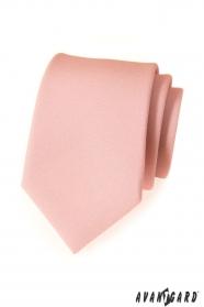 Moderní pudrová kravata matná