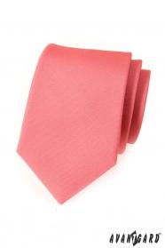 Pánská kravata růžová mat jednobarevná