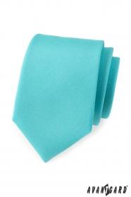 Pánská kravata tyrkysová mat