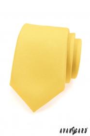 Matná žlutá kravata