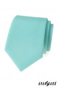 Matná kravata mátové barvy