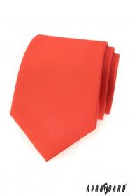 Matná tmavě oranžová kravata