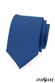 Modrá pánská kravata v matném provedení