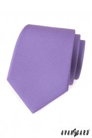 Světle fialová matná kravata