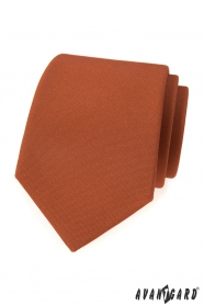 Skořicově hnědá pánská kravata