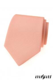Lososově růžová matná kravata
