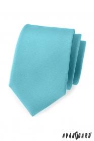 Matně tyrkysová pánská kravata