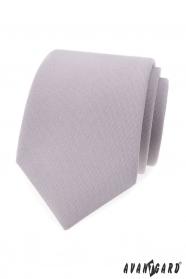 Světle šedá pánská kravata