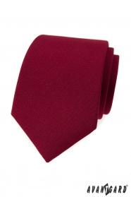 Pánská kravata v matné barvě bordó