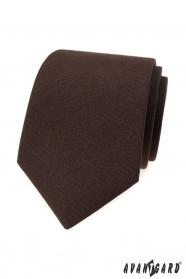 Pánská matně hnědá kravata