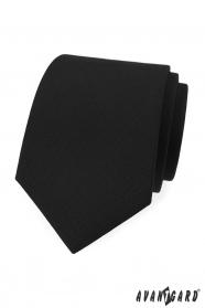Matná černá kravata