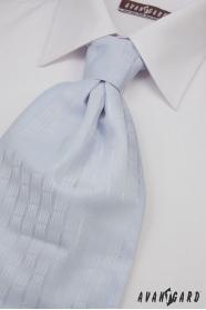 Svatební kravata světlemodrá jemný dekor