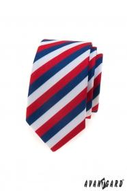 Slim kravata Trikolóra Lux