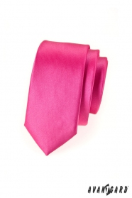 Úzká kravata SLIM  Fuchsiová lesk