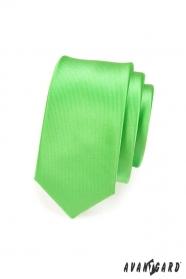 Úzká kravata SLIM zelená lesk